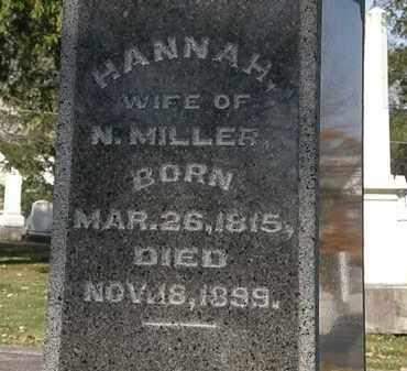 MILLER, HANNAH - Morrow County, Ohio | HANNAH MILLER - Ohio Gravestone Photos
