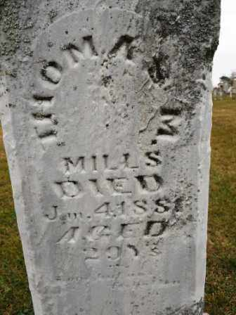 MILLS, THOMAS M - Morrow County, Ohio | THOMAS M MILLS - Ohio Gravestone Photos