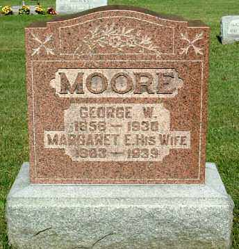 MOORE, MARGARET E. (ELLA) - Morrow County, Ohio | MARGARET E. (ELLA) MOORE - Ohio Gravestone Photos