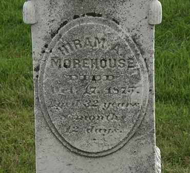 MOREHOUSE, HIRAM A. - Morrow County, Ohio | HIRAM A. MOREHOUSE - Ohio Gravestone Photos