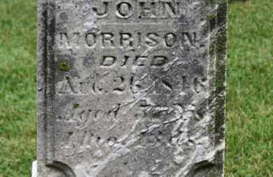 MORRISON, JOHN - Morrow County, Ohio | JOHN MORRISON - Ohio Gravestone Photos