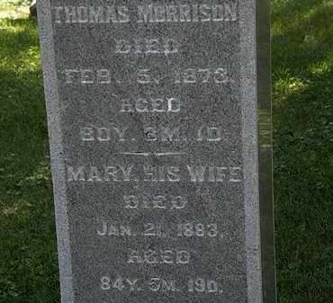 MORRISON, THOMAS - Morrow County, Ohio | THOMAS MORRISON - Ohio Gravestone Photos