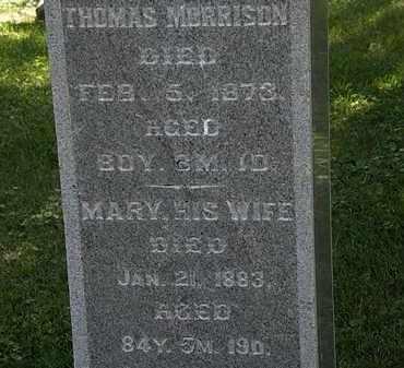 MORRISON, MARY - Morrow County, Ohio | MARY MORRISON - Ohio Gravestone Photos