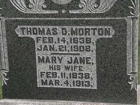 MORTON, THOMAS D. - Morrow County, Ohio | THOMAS D. MORTON - Ohio Gravestone Photos