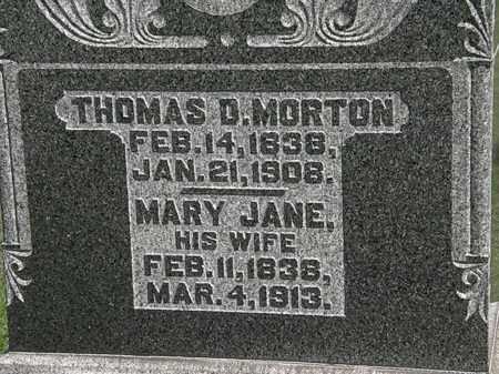 MORTON, MARY JANE - Morrow County, Ohio | MARY JANE MORTON - Ohio Gravestone Photos
