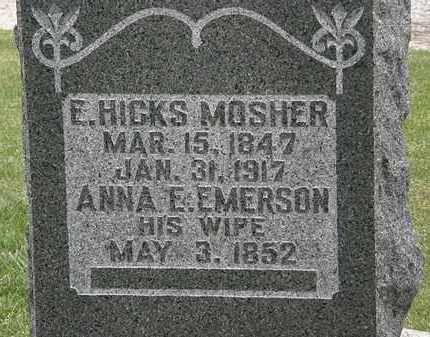 MOSHER, E. HICKS - Morrow County, Ohio | E. HICKS MOSHER - Ohio Gravestone Photos
