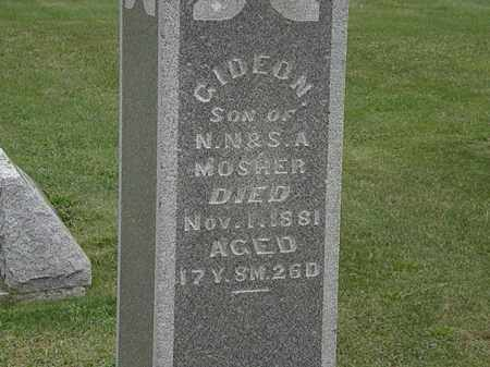 MOSHER, N.N. - Morrow County, Ohio | N.N. MOSHER - Ohio Gravestone Photos