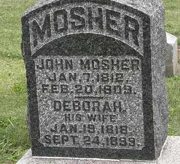 MOSHER, JOHN - Morrow County, Ohio | JOHN MOSHER - Ohio Gravestone Photos