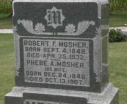 MOSHER, ROBERT F. - Morrow County, Ohio | ROBERT F. MOSHER - Ohio Gravestone Photos