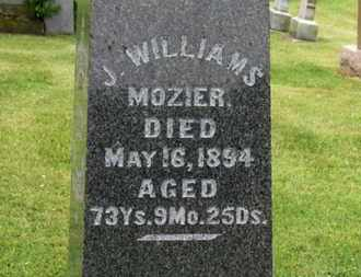 MOZIER, J. WILLIAMS - Morrow County, Ohio | J. WILLIAMS MOZIER - Ohio Gravestone Photos