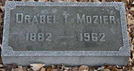 MOZIER, ORABEL T. - Morrow County, Ohio | ORABEL T. MOZIER - Ohio Gravestone Photos