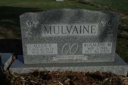 MULVAINE, ALLEN E - Morrow County, Ohio | ALLEN E MULVAINE - Ohio Gravestone Photos