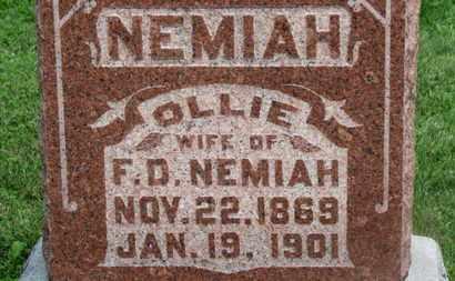 NEMIAH, OLLIE - Morrow County, Ohio | OLLIE NEMIAH - Ohio Gravestone Photos