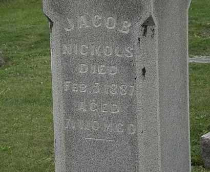 NICKOLS, JACOB - Morrow County, Ohio | JACOB NICKOLS - Ohio Gravestone Photos