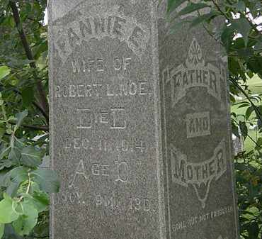NOE, FANNIE E. - Morrow County, Ohio | FANNIE E. NOE - Ohio Gravestone Photos
