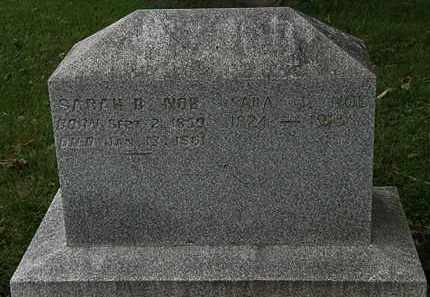 NOE, SARAH B. - Morrow County, Ohio | SARAH B. NOE - Ohio Gravestone Photos