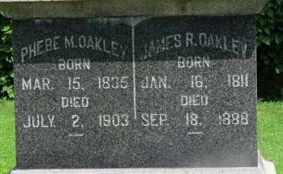 OAKLEY, PHEBE M. - Morrow County, Ohio | PHEBE M. OAKLEY - Ohio Gravestone Photos