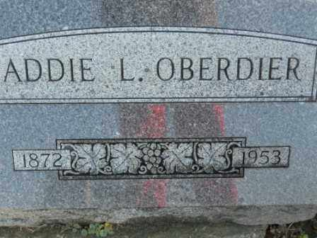 OBERDIER, ADDIE L - Morrow County, Ohio | ADDIE L OBERDIER - Ohio Gravestone Photos