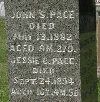 PACE, JOHN S. - Morrow County, Ohio | JOHN S. PACE - Ohio Gravestone Photos