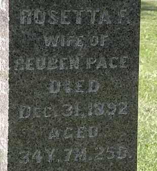 PACE, ROSETTA F. - Morrow County, Ohio | ROSETTA F. PACE - Ohio Gravestone Photos