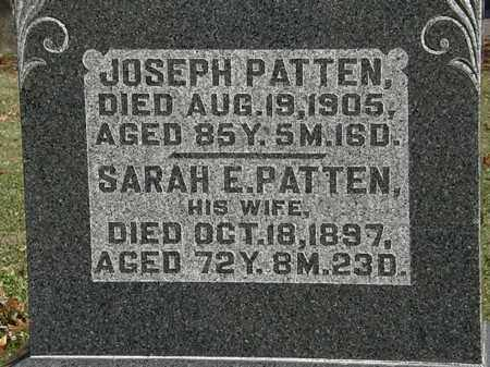 PATTEN, SARAH E. - Morrow County, Ohio | SARAH E. PATTEN - Ohio Gravestone Photos