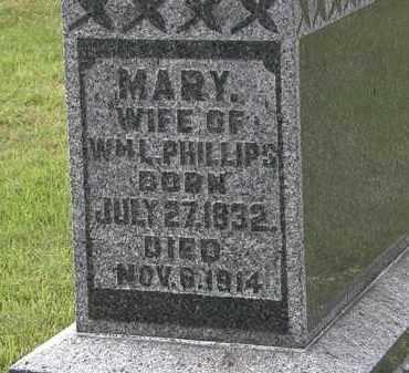 PHILLIPS, MARY - Morrow County, Ohio | MARY PHILLIPS - Ohio Gravestone Photos