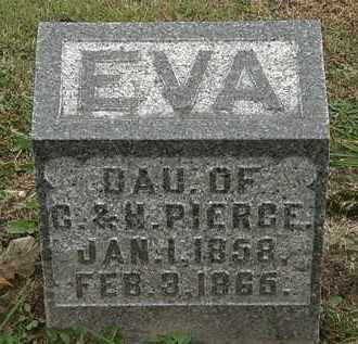 PIERCE, EVA - Morrow County, Ohio | EVA PIERCE - Ohio Gravestone Photos
