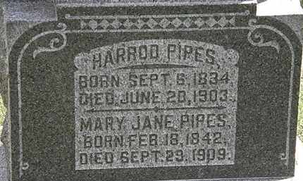PIPES, HARROD - Morrow County, Ohio | HARROD PIPES - Ohio Gravestone Photos