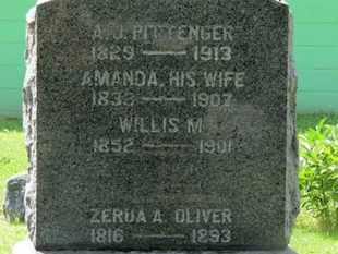 OLIVER, ZERUA A. - Morrow County, Ohio | ZERUA A. OLIVER - Ohio Gravestone Photos