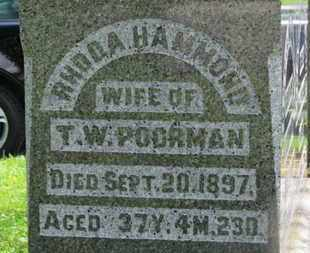 POORMAN, T.W. - Morrow County, Ohio | T.W. POORMAN - Ohio Gravestone Photos