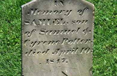 POTTER, SAMUEL - Morrow County, Ohio | SAMUEL POTTER - Ohio Gravestone Photos