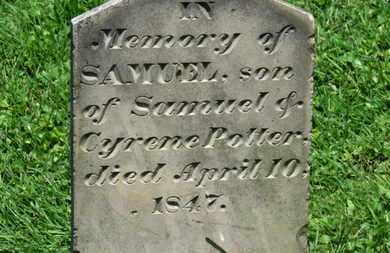 POTTER, SAMUEL - Morrow County, Ohio   SAMUEL POTTER - Ohio Gravestone Photos