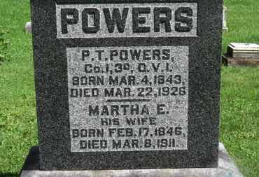 POWERS, P.T. - Morrow County, Ohio | P.T. POWERS - Ohio Gravestone Photos
