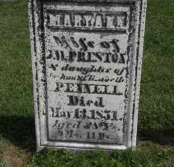 PRESTON, MARY ANN - Morrow County, Ohio | MARY ANN PRESTON - Ohio Gravestone Photos