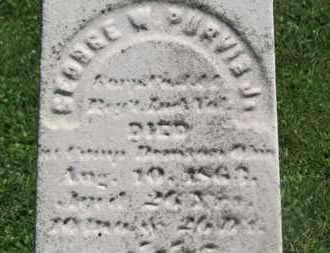 PURVIS, GEORGE W. - Morrow County, Ohio | GEORGE W. PURVIS - Ohio Gravestone Photos
