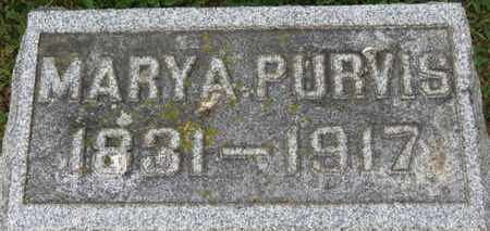 PURVIS, MARY A. - Morrow County, Ohio | MARY A. PURVIS - Ohio Gravestone Photos