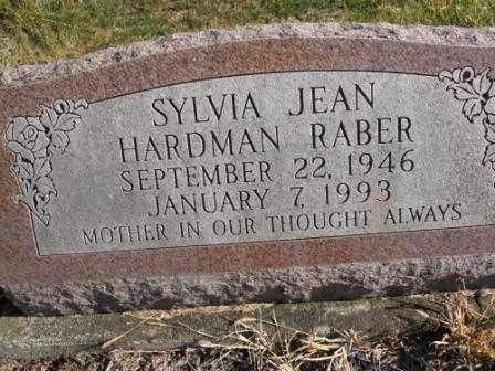 RABER, SYLVIA JEAN HARDMAN - Morrow County, Ohio | SYLVIA JEAN HARDMAN RABER - Ohio Gravestone Photos
