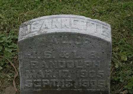 RANDOLPH, JEANNETTE - Morrow County, Ohio | JEANNETTE RANDOLPH - Ohio Gravestone Photos