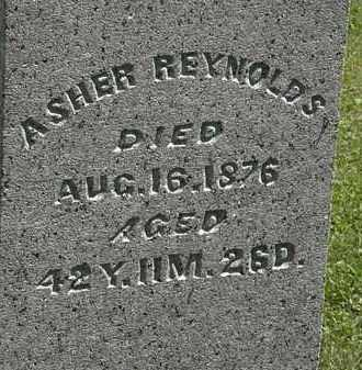 REYNOLDS, ASHER - Morrow County, Ohio | ASHER REYNOLDS - Ohio Gravestone Photos