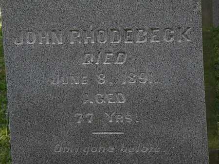 RHODEBECK, JOHN - Morrow County, Ohio | JOHN RHODEBECK - Ohio Gravestone Photos