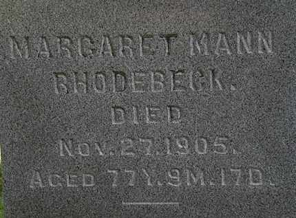 RHODEBECK, MARGARET - Morrow County, Ohio | MARGARET RHODEBECK - Ohio Gravestone Photos