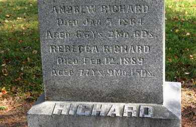 RICHARD, REBECCA - Morrow County, Ohio | REBECCA RICHARD - Ohio Gravestone Photos