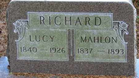 RICHARD, LUCY - Morrow County, Ohio | LUCY RICHARD - Ohio Gravestone Photos