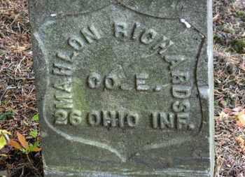 RICHARD, MAHLON - Morrow County, Ohio | MAHLON RICHARD - Ohio Gravestone Photos