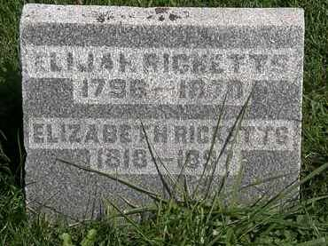 RICKETTS, ELIZABETH - Morrow County, Ohio | ELIZABETH RICKETTS - Ohio Gravestone Photos