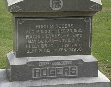 EVANS ROGERS, RACHEL - Morrow County, Ohio | RACHEL EVANS ROGERS - Ohio Gravestone Photos