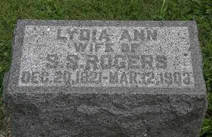ROGERS, LYDIA ANN - Morrow County, Ohio | LYDIA ANN ROGERS - Ohio Gravestone Photos