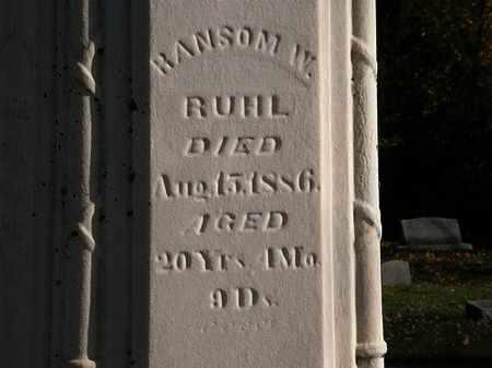 RUHL, RANSOM W. - Morrow County, Ohio | RANSOM W. RUHL - Ohio Gravestone Photos