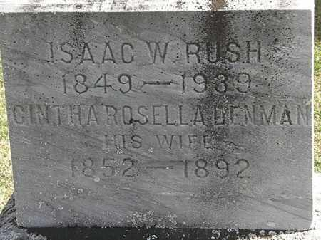 RUSH, ISAAC W. - Morrow County, Ohio | ISAAC W. RUSH - Ohio Gravestone Photos