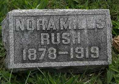 RUSH, NORA - Morrow County, Ohio | NORA RUSH - Ohio Gravestone Photos